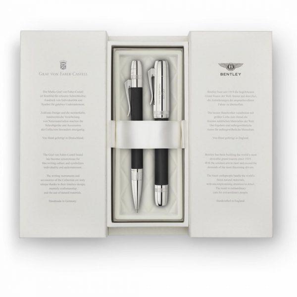 BL2116 - GVFCforBentley - Fountain Pen Medium - Ebony Wood - In Box